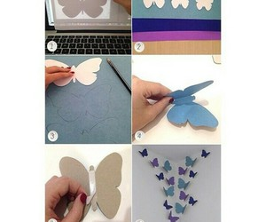 tutorial, butterfly, and diy image