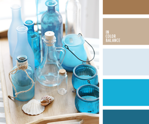 blue, palette, and brown image