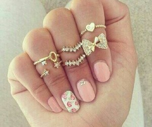 girly, jewelry, and rings image