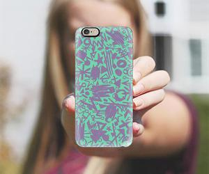 wallpaper background, geometric collage, and psychedelic iphone case image