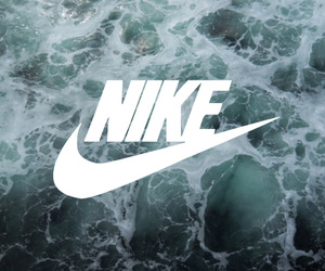 background, nike, and water image