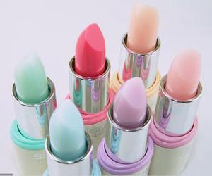 lipstick, pastel, and makeup image