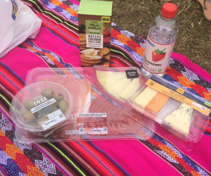 blanket, cheese, and food image