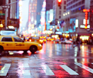 light, taxi, and new york image