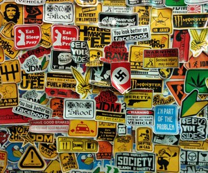 awesome, bumper stickers, and colorful image