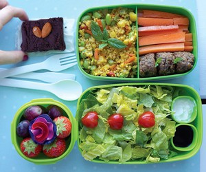 bento, fit, and food image