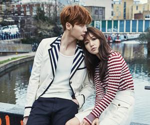 korean couple, park shin hye, and lee jong suk image