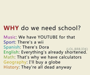 school, funny, and why image