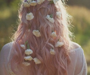 beautiful, blond, and curly hair image