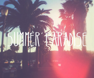 summer, paradise, and text image