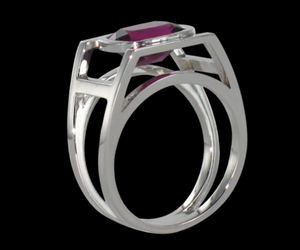 gold, ring, and rubellite image