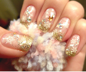 christmas, nail design, and cute image