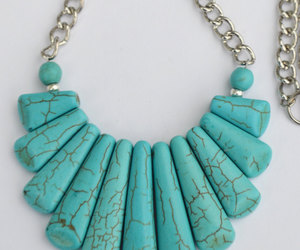 turquoise, statement necklace, and turquoise necklace image