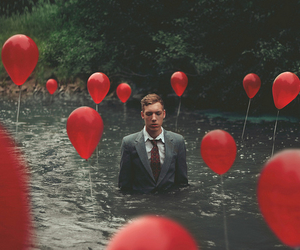 red, balloons, and photography image