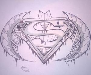 batman, draw, and drawing image