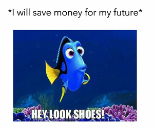 money save, funny shoes shopping, and nemo cartoon image