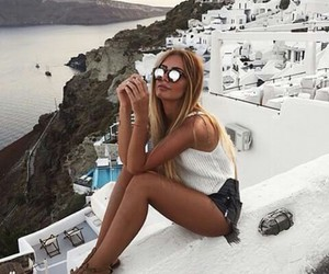 girl, summer, and Greece image