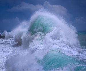 waves, sea, and beautiful image
