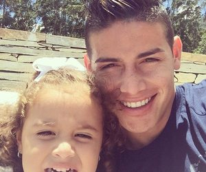 james rodriguez, real madrid, and family image