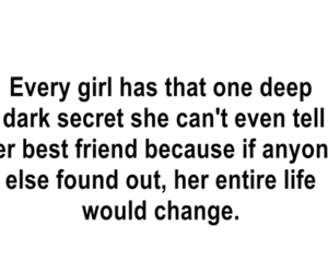 girl, quote, and secret image