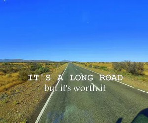 road, quote, and summer image