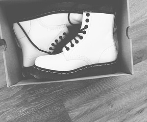 boots, white, and shoes image
