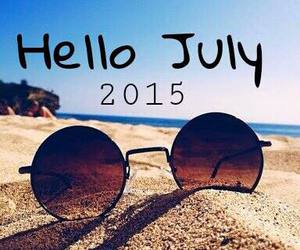july, beach, and holiday image