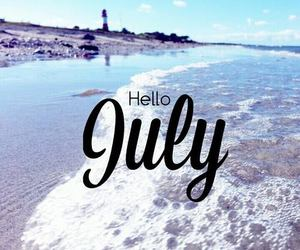 beach, july, and summer image