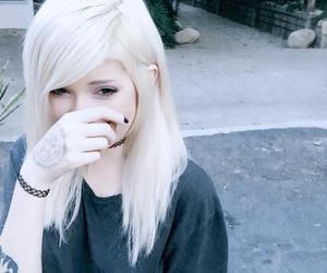 girl, white hair, and leda muir image