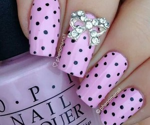 nails, art, and pink image