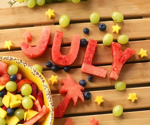 fruit, july, and food image