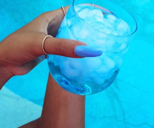 blue, drink, and summer image