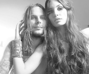 couple, long haired, and love image