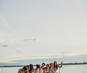 girls, party, and summer image