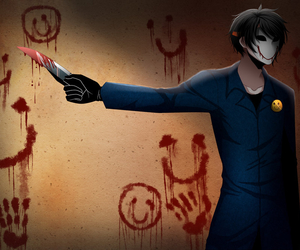creepypasta and bloody painter image