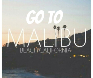 beach, california, and malibu image