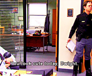 lol, the office, and dwight schrute image