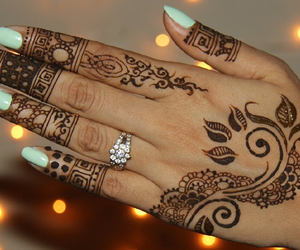 henna, design, and nails image