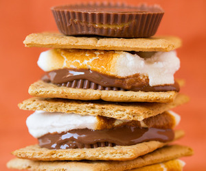 chocolate, food, and smores image