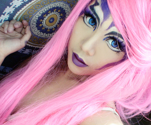 girl, pink hair, and blue eyes image