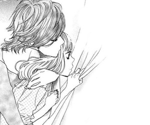 black and white, manga, and manga cap image