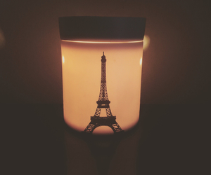 candle, eiffel, and paris image