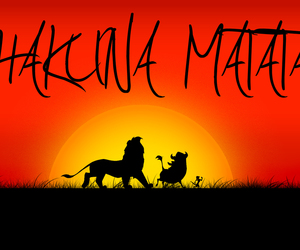 hakuna matata, lion king, and disney image