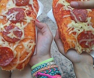 cheese, italy, and pizza image