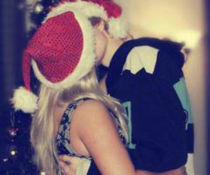 love, kiss, and christmas image