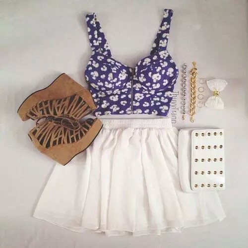 summer outfits, fashion, and cute clothing image