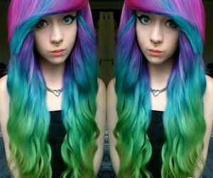 alt girl, dyed hair, and alternative image
