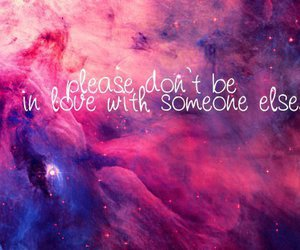 love, quote, and galaxy image