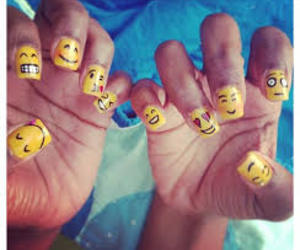 emoticons, nails, and emoji image