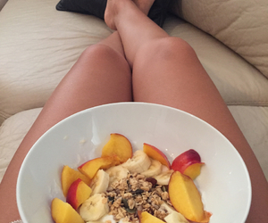 breakfast, girl, and healthy image
